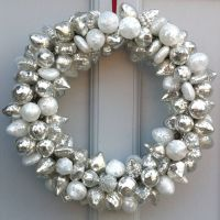 silver bauble wreath by idyll home ltd ...