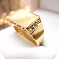 Men Gold Diamond Rings