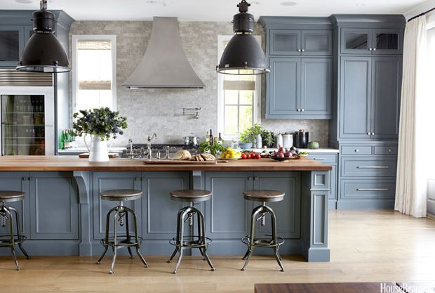 Blue Grey Painted Kitchen Cabinets  Kitchens  Pinterest