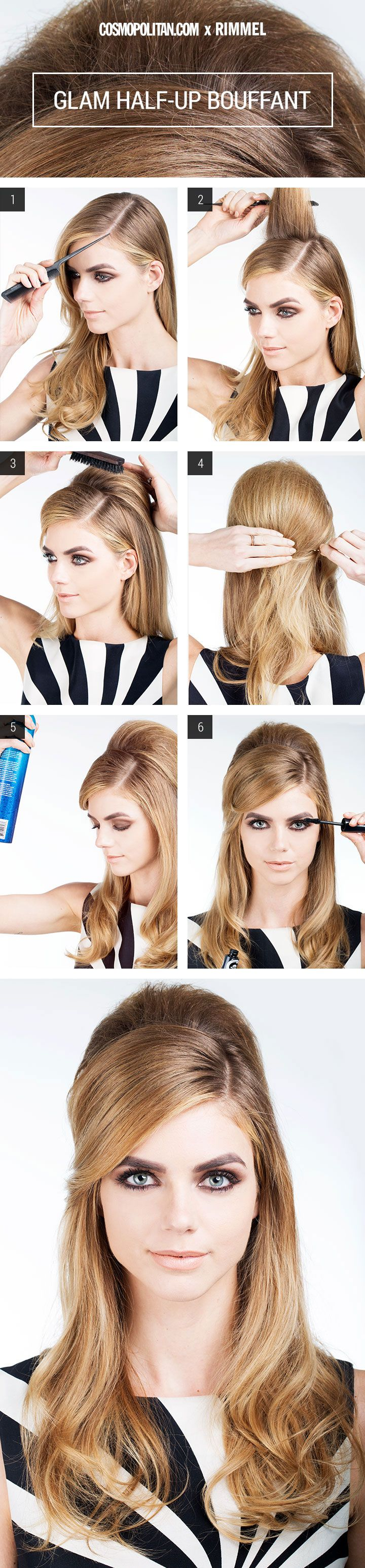 Hair How To Glam Half Up Bouffant Hairstylists Half Updo And