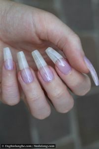 Long natural acrylic nails | Double Team + Dynamicpunch ...