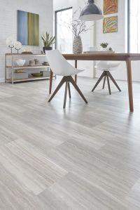 Light Gray Indoor Wood PVC Click Flooring | PVC Plank ...