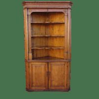 Antique Pine Corner Cabinet Hutch Antique Furniture ...