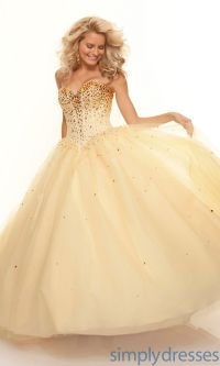 Strapless Sweetheart Ball Gowns, Mori Lee Gowns - Simply ...
