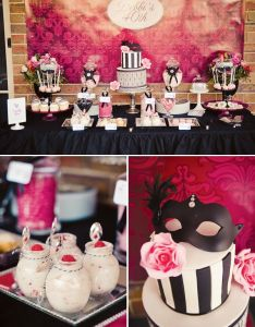 Chic Masquerade Inspired Th Birthday Party Also Themed Masquerades Rh