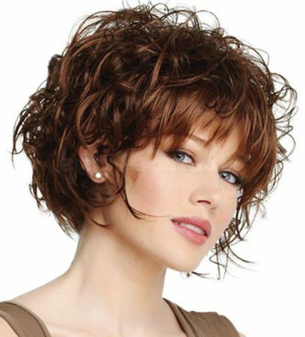 Kurzes Haar Frisuren Lockig Braun Ich Pinterest Kurze Haare