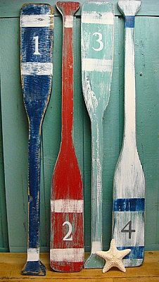 Oars sign number letter wall art nautical beach house lake cottage decor on etsy also rh pinterest