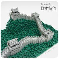 nanoblock Great Wall of China, using over 2000 bricks ...