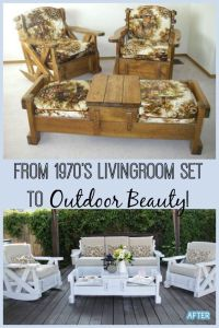 70's Set to Outdoor Beauty! | Living room sets, Room set ...