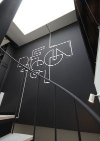 interior home Writing Idea Flat black is smooth and ...