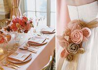 gold table settings wedding   wedding,weddings,pink and ...