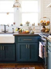 Best 25+ Blue cabinets ideas on Pinterest   Blue kitchen ...