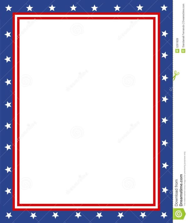 Free Patriotic Page Borders Border Sponsored