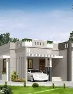 bedroom single storey budget house in square feet by biya creations mahe also image result for small with car parking construction elevation rh pinterest