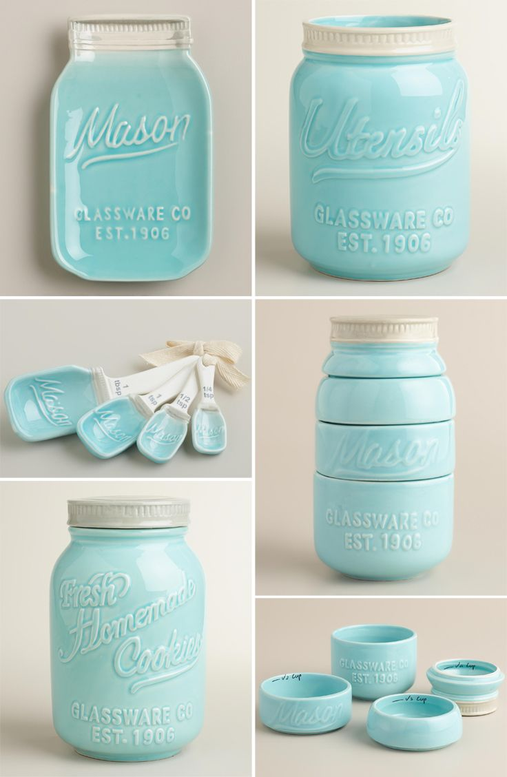 Mason Jar Ceramic Spoon Rest  Mason jar kitchen Kitchen