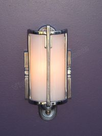 Vintage Bathroom Lighting | Antique Mid 30s Chrome Vintage ...