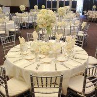 Elegant table for wedding. Hydrangeas and vendela roses ...