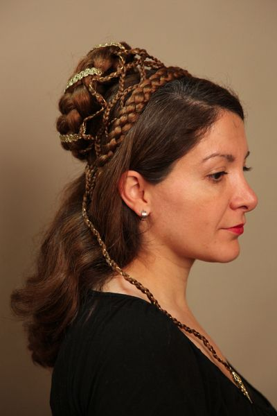 Renaissance Gothic Mittelalter Frisur Haarteil Haarteile Alte
