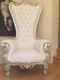 Absolom Roche Chair - Silver & White Leatherette - Client ...