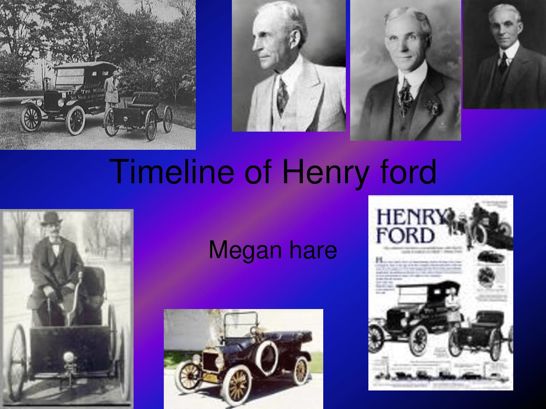 Henry Ford Life Timeline