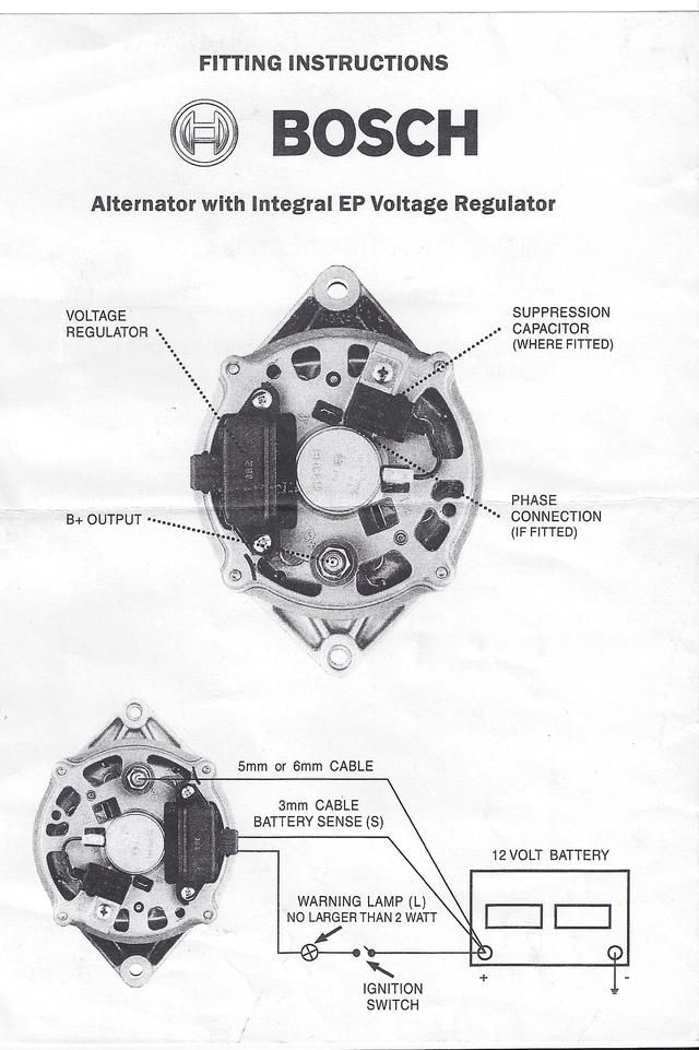 Bosch internal regulator alternator wiring diagram