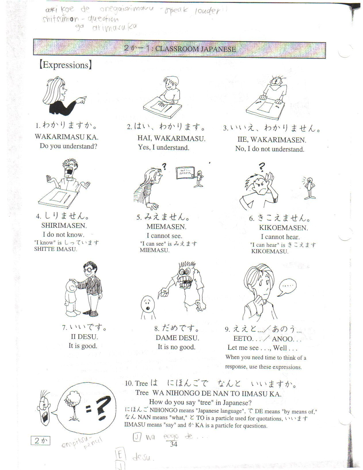 Japanese Worksheet Learnjapanese Uniquelanguages Japanese Courses