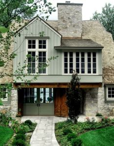 Nice entry and careful placement of windows homes pinterest wood stone architects also rh