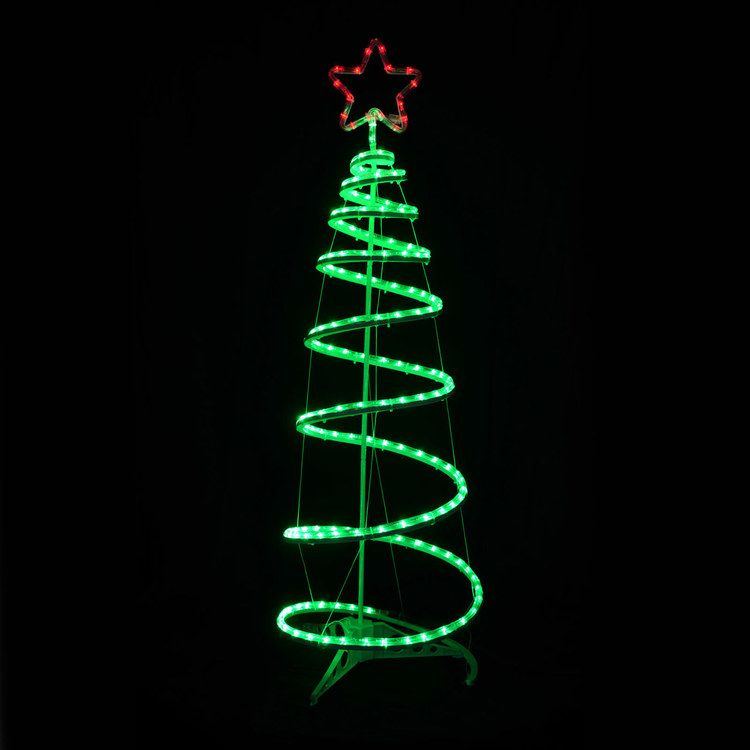brown snowy twig tree white led lights indoor outdoor rope - Outdoor Christmas Spiral Tree Decorations