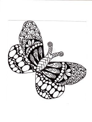 zentangle easy zentangles butterfly drawings patterns animals deviantart coloring drawing doodle adult tangle dragonfly doodles colouring poses