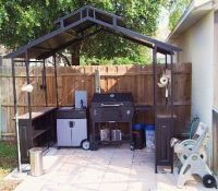 Covered BBQ area w/ outdoor kitchen, cook anytime, rain or ...