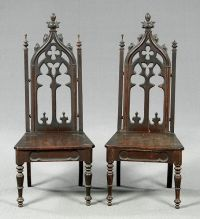 The Wonderful wooden chair gothic furniture foto above, is