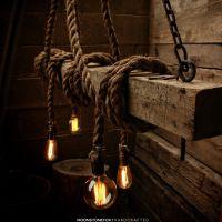 The AHAB-4 - Industrial Rope Light - Barn Beam Pendant ...