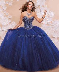 Barato Azul 2016 elegante Quinceanera Vestidos querida ...