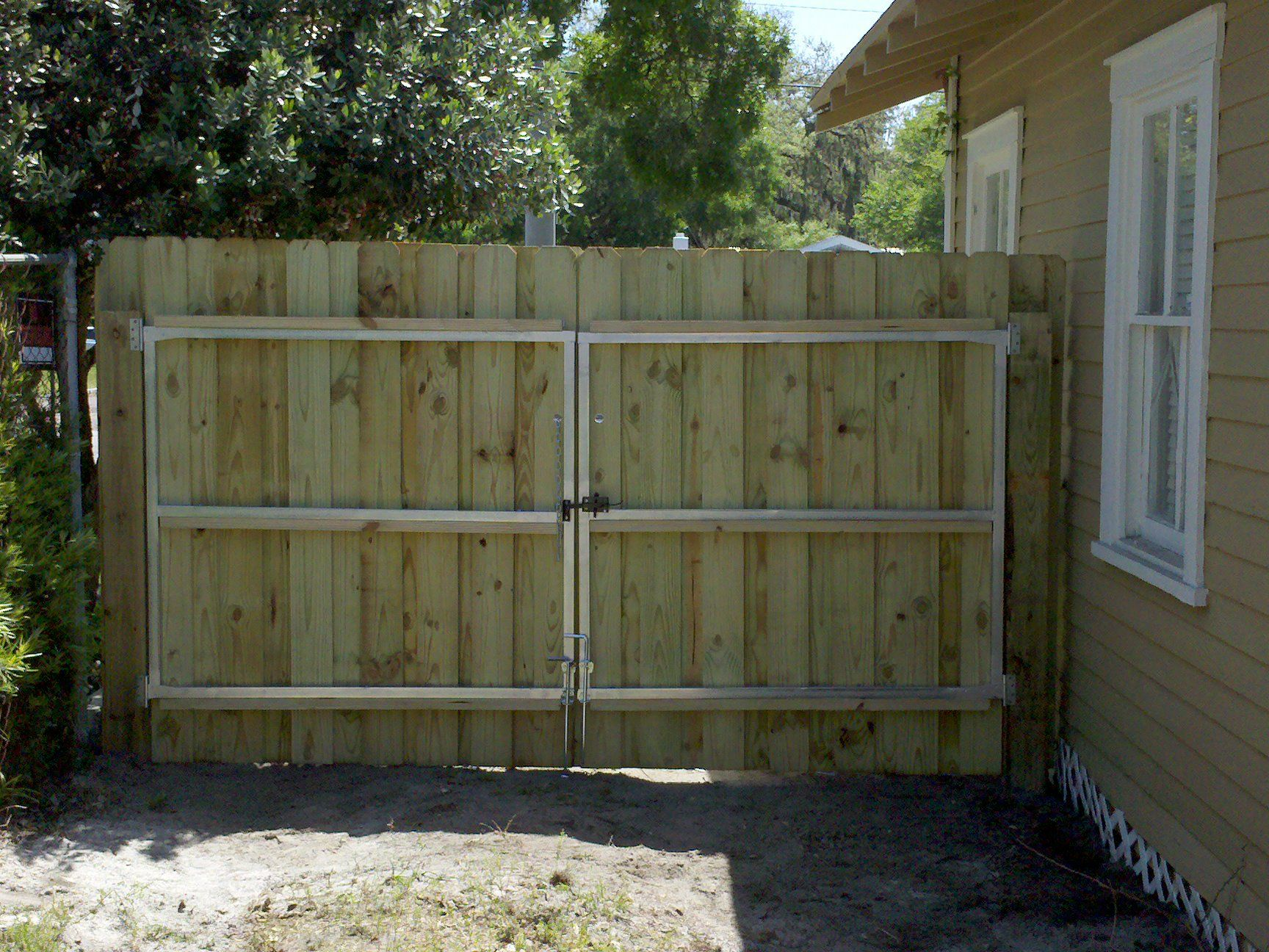 wooden fence gates designs