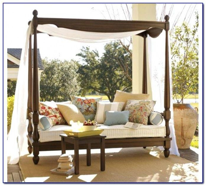 Patio Daybed Canopy Gazebo Swingcalm Day Bed With Rattan