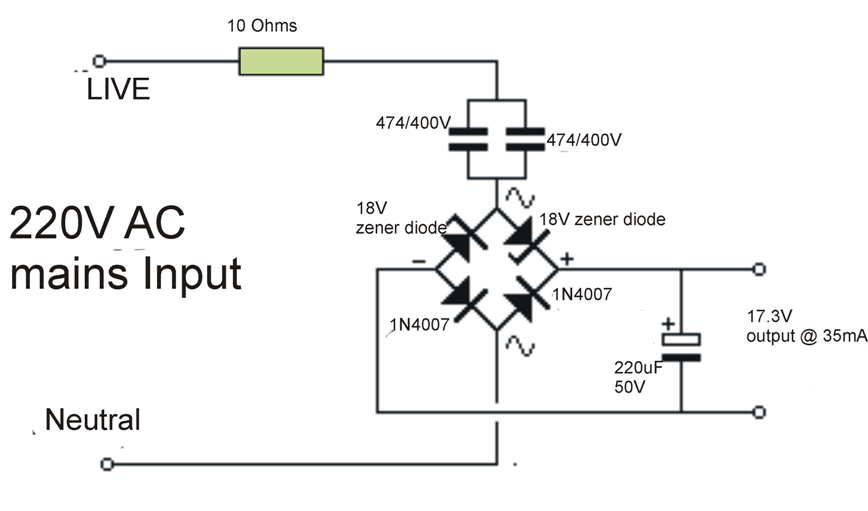 TransformerlessPowerSupply‬ circuit is a type of power