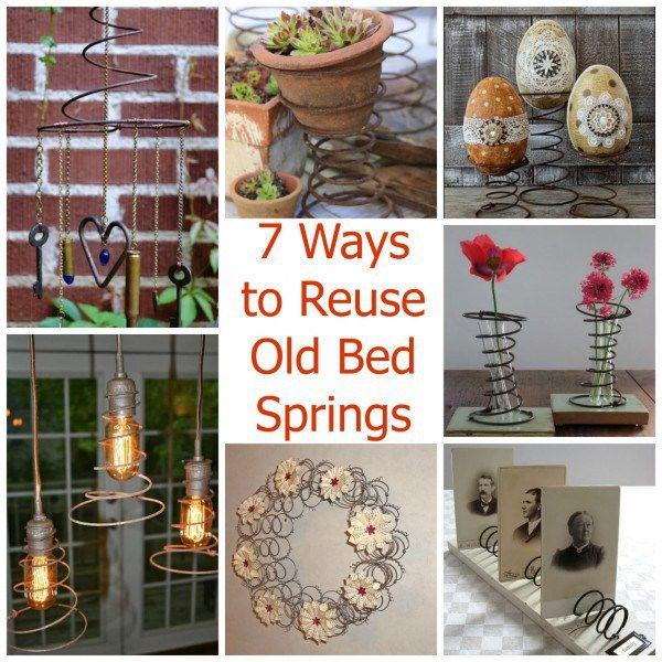 7 Ways To Reuse Old Bed Springs