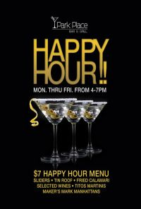 Happy Hour Posters and Table Tents designed and printed by ...
