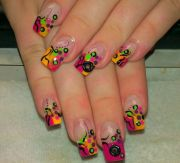 wild nail design and crazy