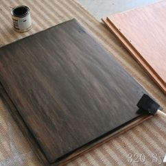 Sanding And Restaining Kitchen Cabinets Wallpaper Patterns Already-stained Wood Can Be Further Stained A Darker Shade ...