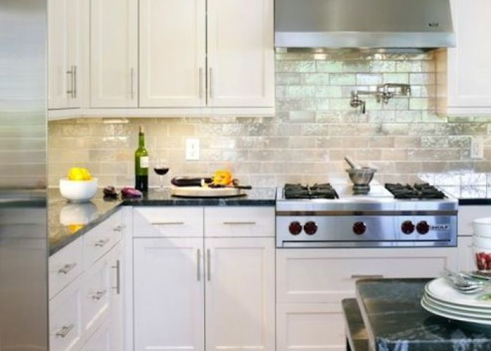 backsplash benjamin moore navajo white tile showcase glass tiles gray glazed subway shaker kitchen cabinets also ikea nice  pinterest