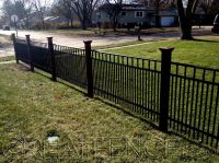 Metal Yard Fencing with double pickets for more privacy ...