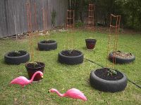 How to DIY Old Tire Garden Ideas Recycled Backyard | Tire ...