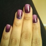 purple ombre gel nail art nails