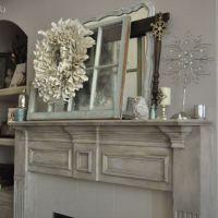 Chalk Painted Fireplace Mantel   Painted fireplace mantels ...