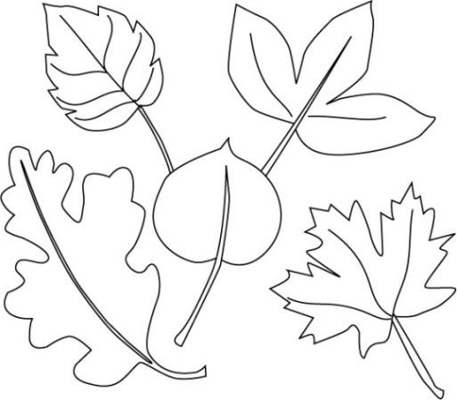 Malvorlagen Blätter Ausmalbilder 2 HOJAS Pinterest