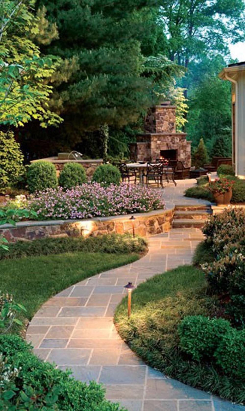 Romantic Garden Design With Pathways Contemporary Beautiful Garden