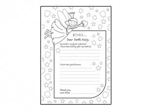 Print off this great letter template to the Tooth Fairy