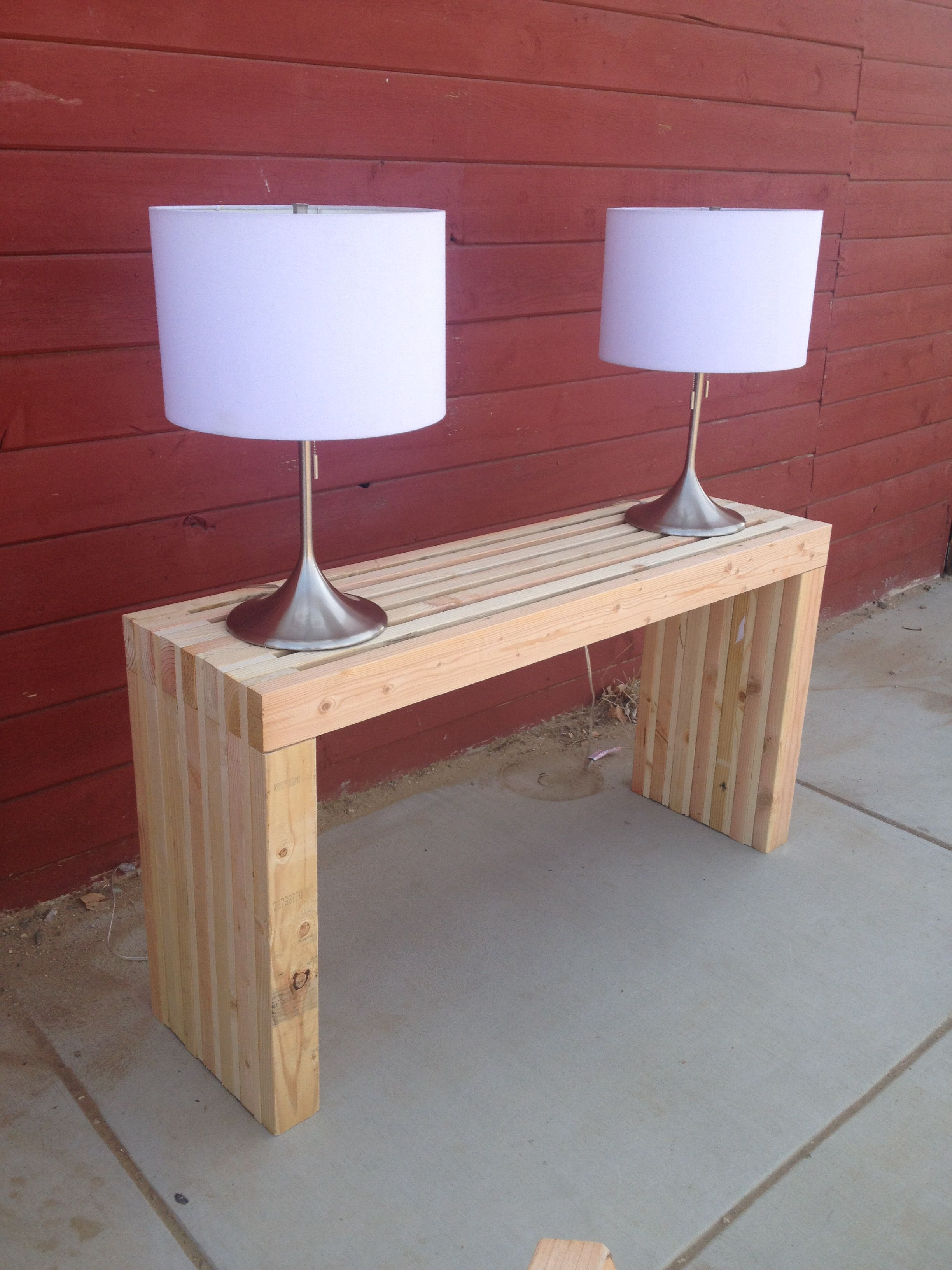 building a sofa table lay z boy sofas completed 2x4 h o m e pinterest