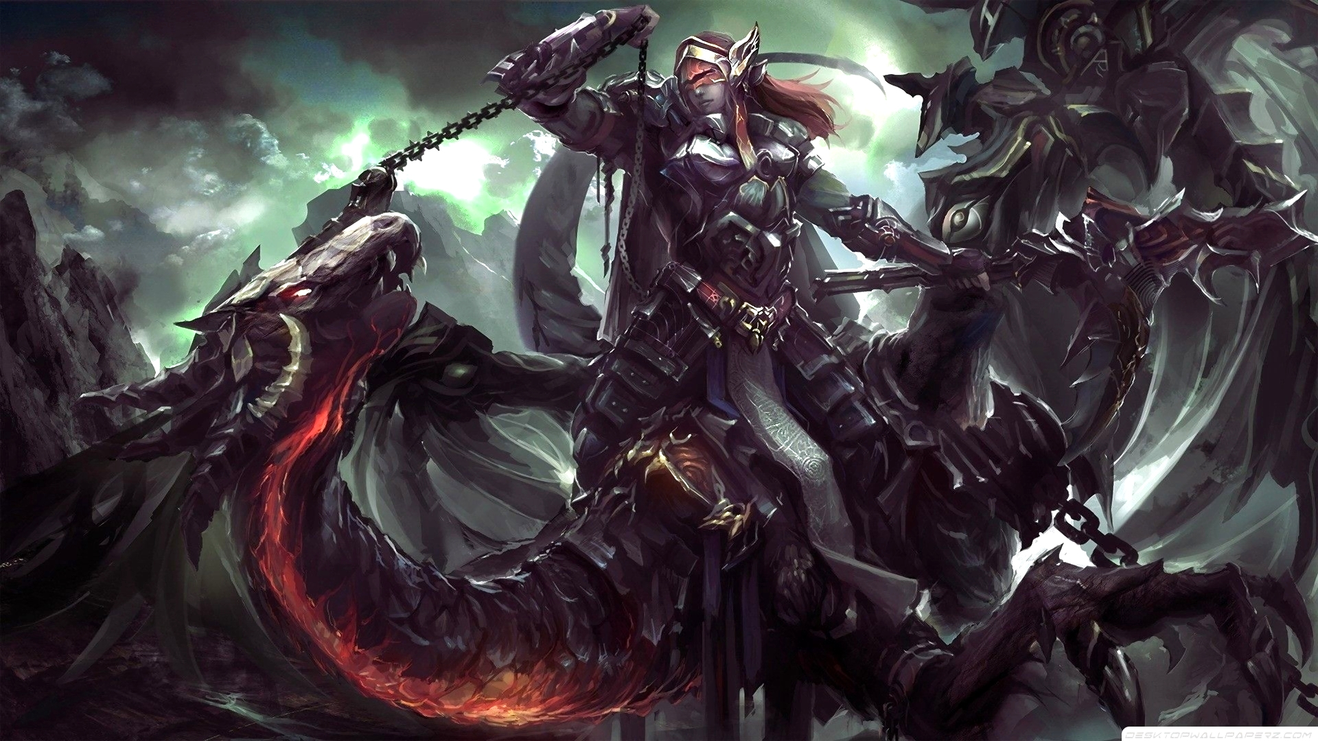 Dark Dragon Knight Wallpaper